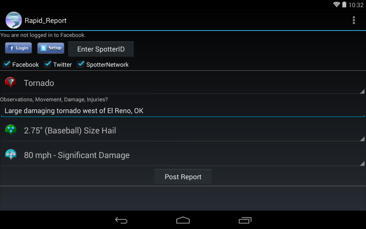 Rapid Report for Storm Chasers - screenshot