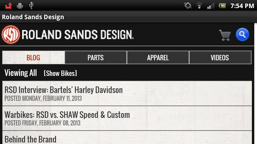Roland Sands Design - screenshot