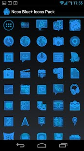 Neon Blue+ Icons Pack - ADW GO- screenshot thumbnail