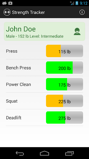 Strength Tracker