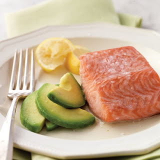 Steamed Salmon with Avocado.