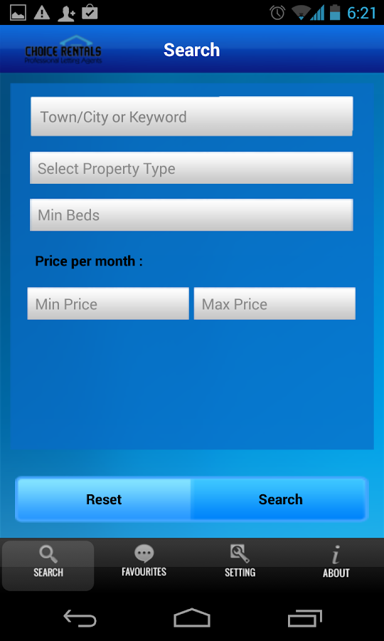 Choice Rentals- screenshot