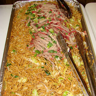 Oven Baked Chow Mein Noodles.