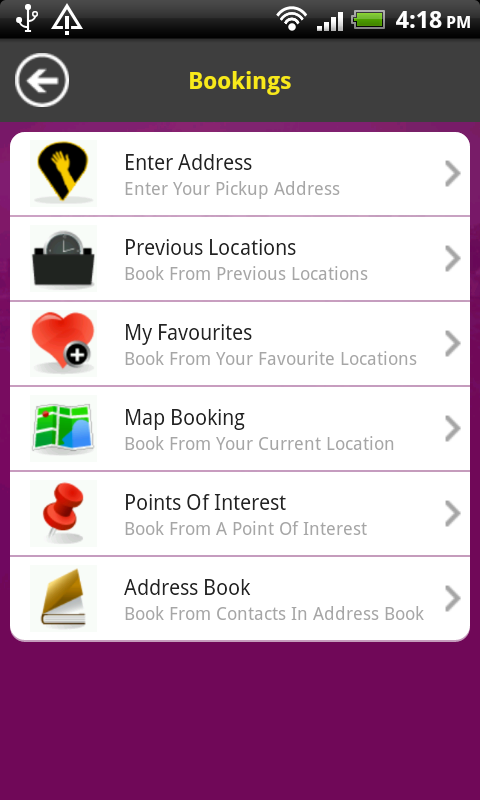 ABC Taxis- screenshot
