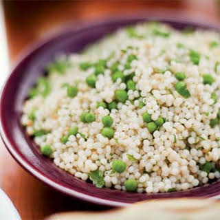 Israeli Couscous with Fresh Peas and Mint.