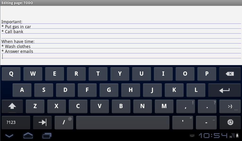 Notebook with backup Free - screenshot