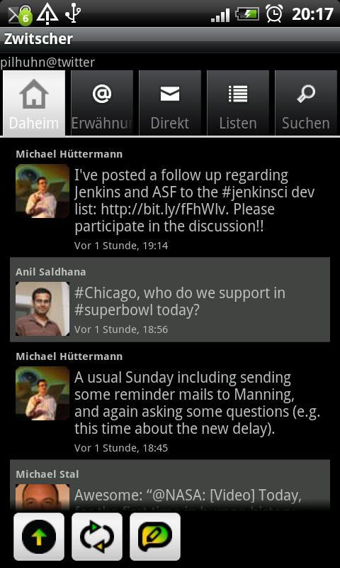 Zwitscher- screenshot