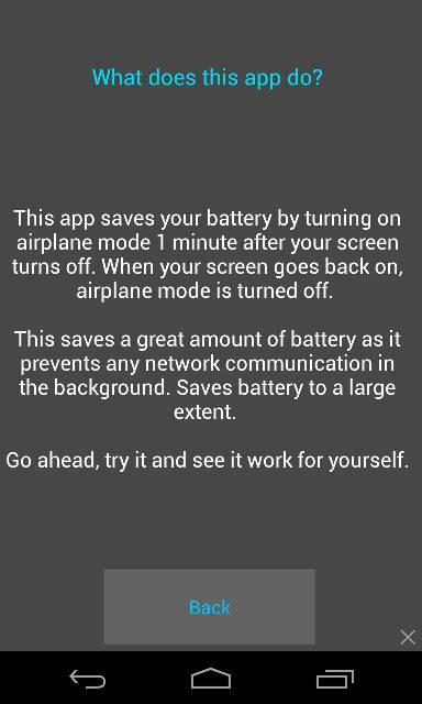 Airbatt Battery Savior - screenshot