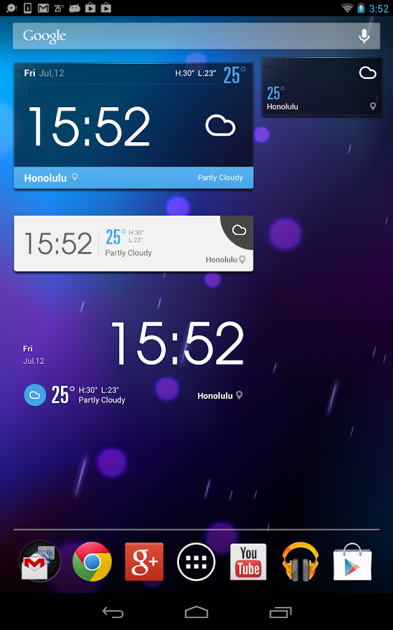 EZ Weather HD Beautiful Widget - screenshot
