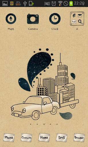 my dream car go launcher theme