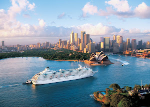 Crystal Symphony sails to beautiful Sydney Harbour in Australia.