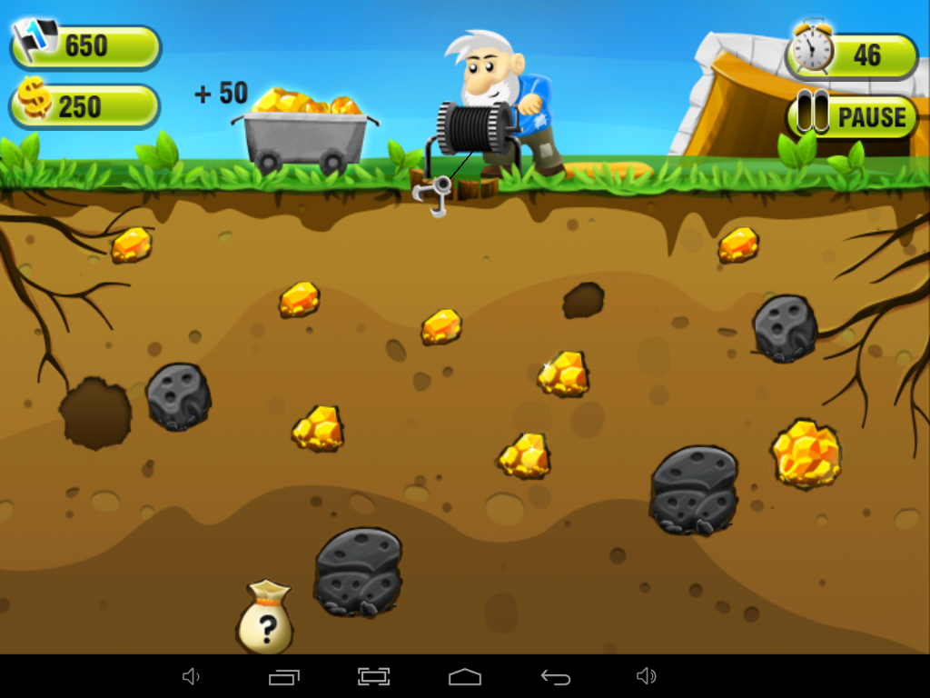 gold miner rush game