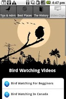 Screenshot of Bird Watching Tips