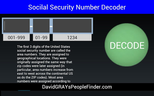 Social Security Decoder