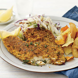 Cracker-and-Parmesan-Crusted Fish Fillets.