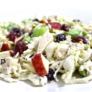 Skinny Chicken and Blue Cheese Slaw Salad.