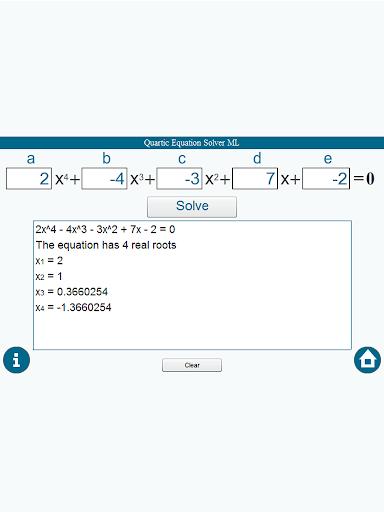 【免費教育App】四次方程計算器ML-APP點子