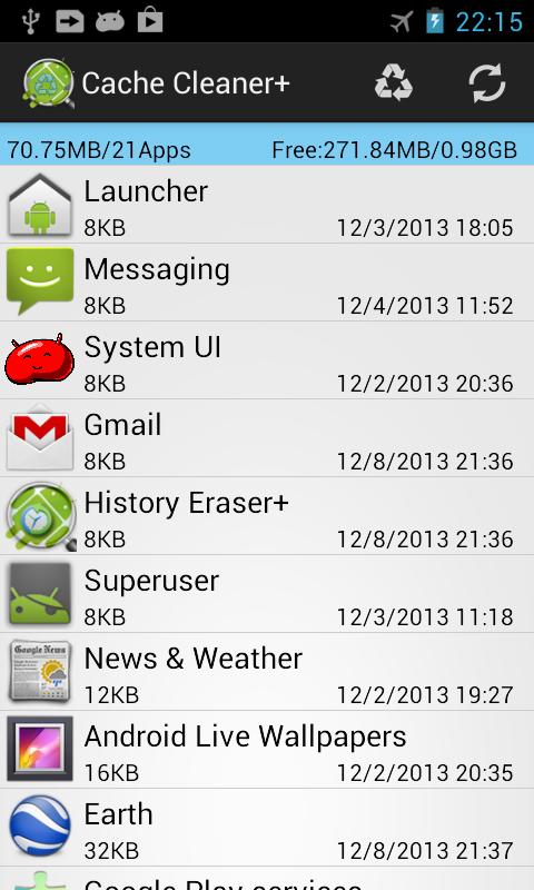 Cache Cleaner + - screenshot