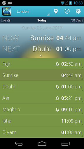 iPray: Prayer Times Qibla