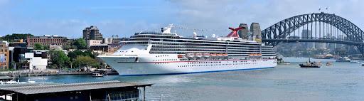 Carnival-Spirit-Sydney-Australia - Carnival Spirit at dock in Sydney, Australia.