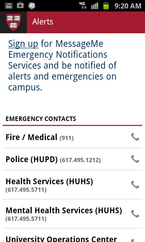 Harvard Mobile - screenshot