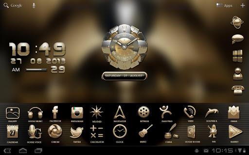 gold clock live wallpaper hd pro apk