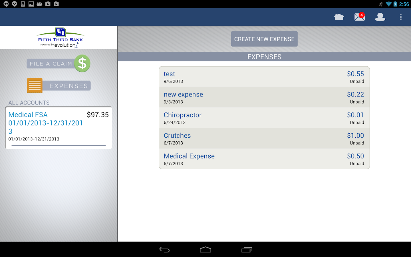 FIFTH THIRD BANK HSA - screenshot