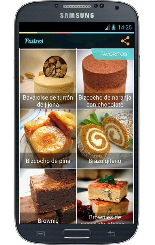 Postres - screenshot