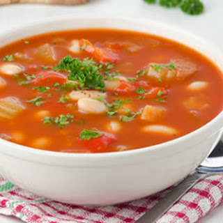 Slow Cooker Hearty Vegetable and Bean Soup.