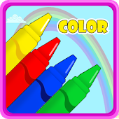Preschool kids learn colors