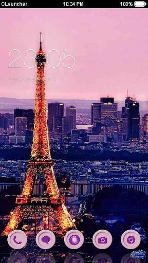 '我爱巴黎'手机主题——畅游桌面