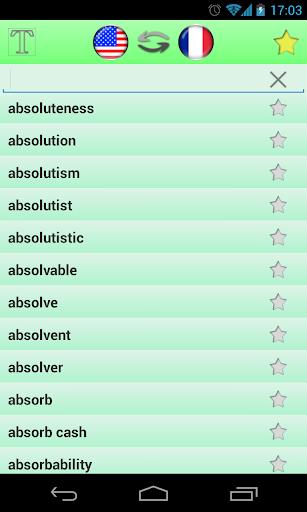 英語-法語詞典