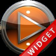 Poweramp Widget Orange Metal