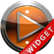 Poweramp Widget Orange Metal