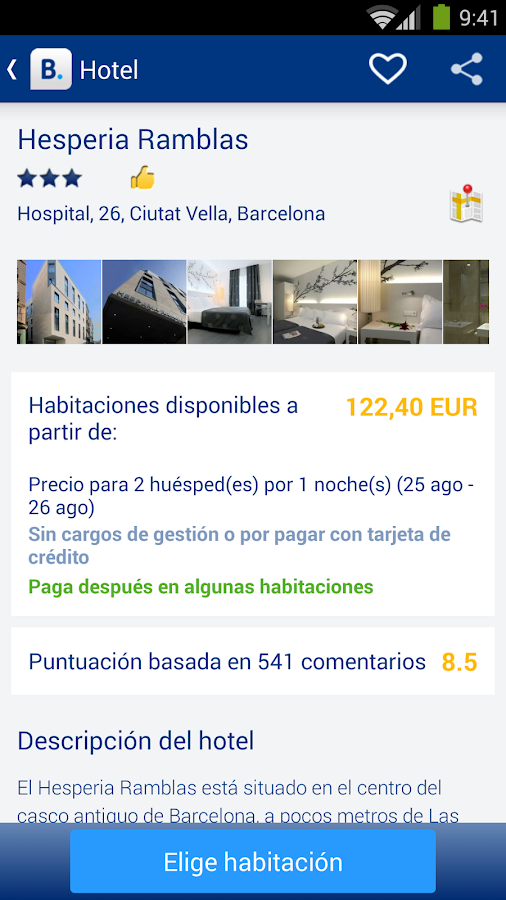 Booking.com: +640.000 hoteles - screenshot