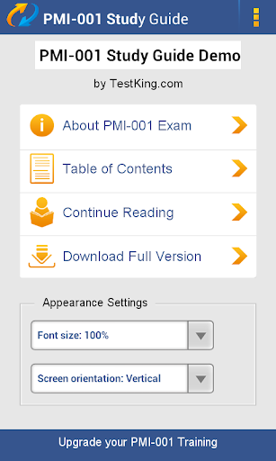 PMI-001 PMP Study Guide Demo