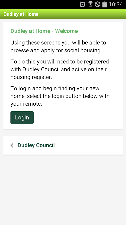 Dudley Council- screenshot