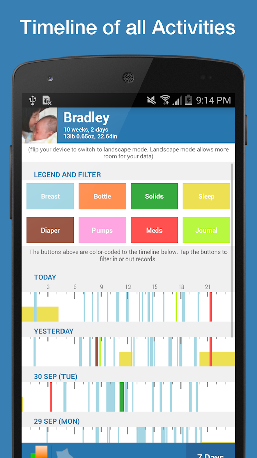 Feed Baby - Tracker & Monitor - screenshot