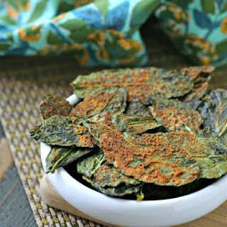 Spicy Nacho Kale Chips {Vegan, Paleo}.