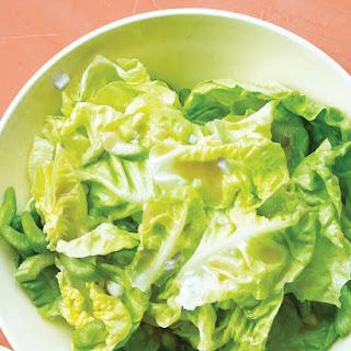 Boston Lettuce Salad with Celery.