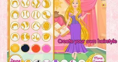 Screenshot of Princess stories dressup game