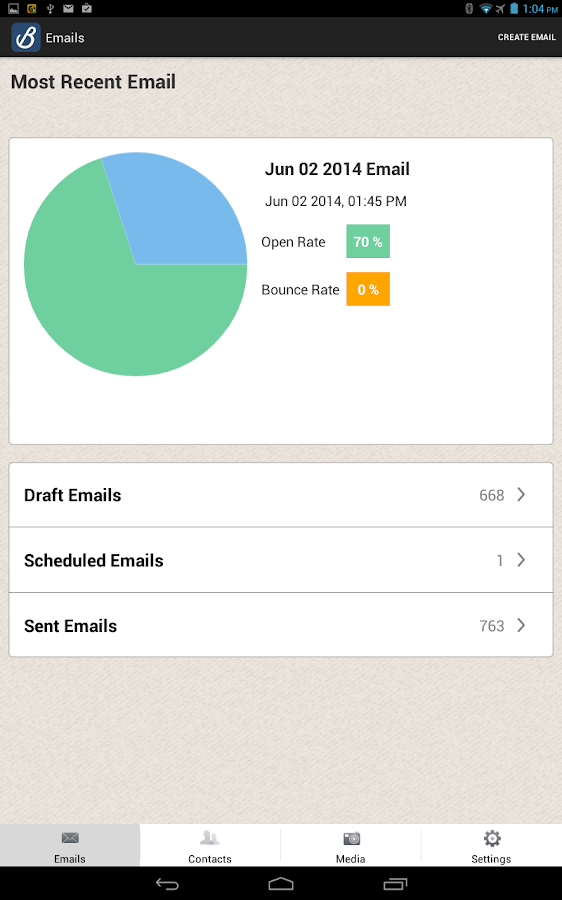 Benchmark Email Free Mobile - screenshot