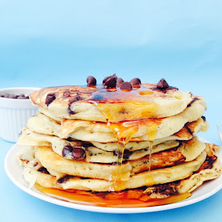 Chocolate Chic Cake Batter Pancakes