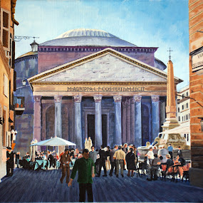 Le Panthéon, Rome by Jonguy Demontigny - Painting All Painting