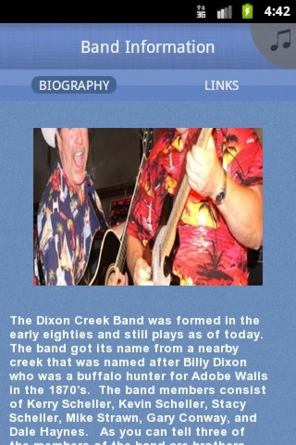 The Dixon Creek Band - screenshot