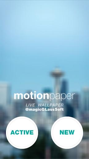 Motion Paper - Live Wallpaper