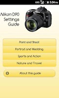 Screenshot of Nikon D90 Settings Guide