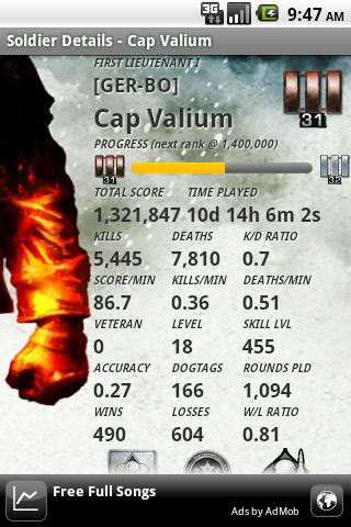 BFBC2 Stats Addict - FREE - screenshot
