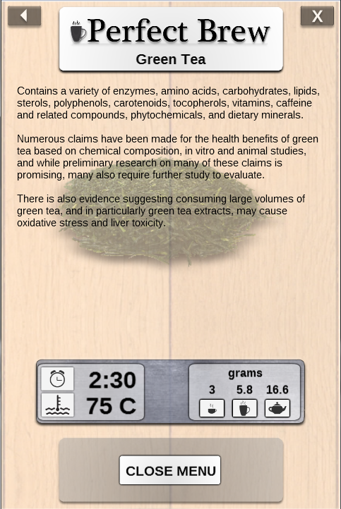 Perfect Brew : Tea Timer- screenshot