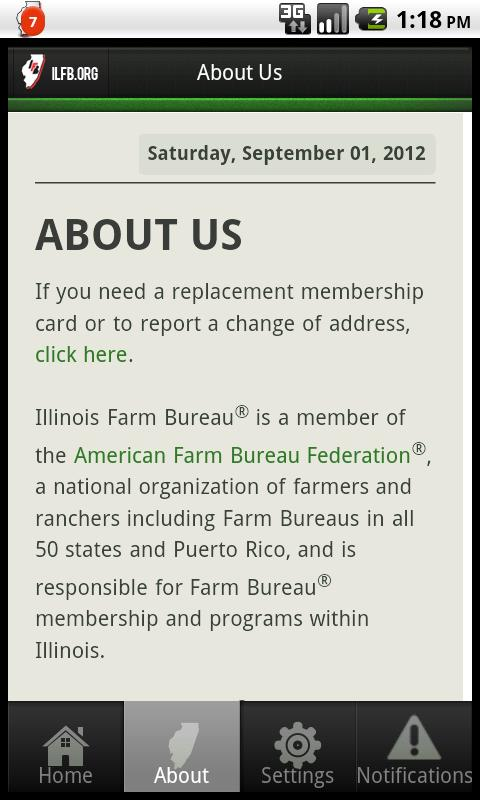 Illinois Farm Bureau- screenshot
